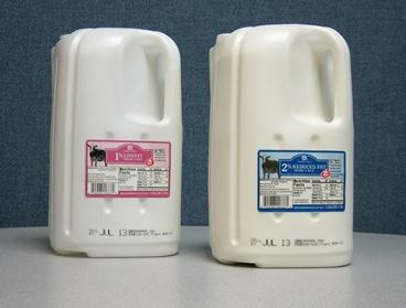 Wal-Mart and Costco new milk container